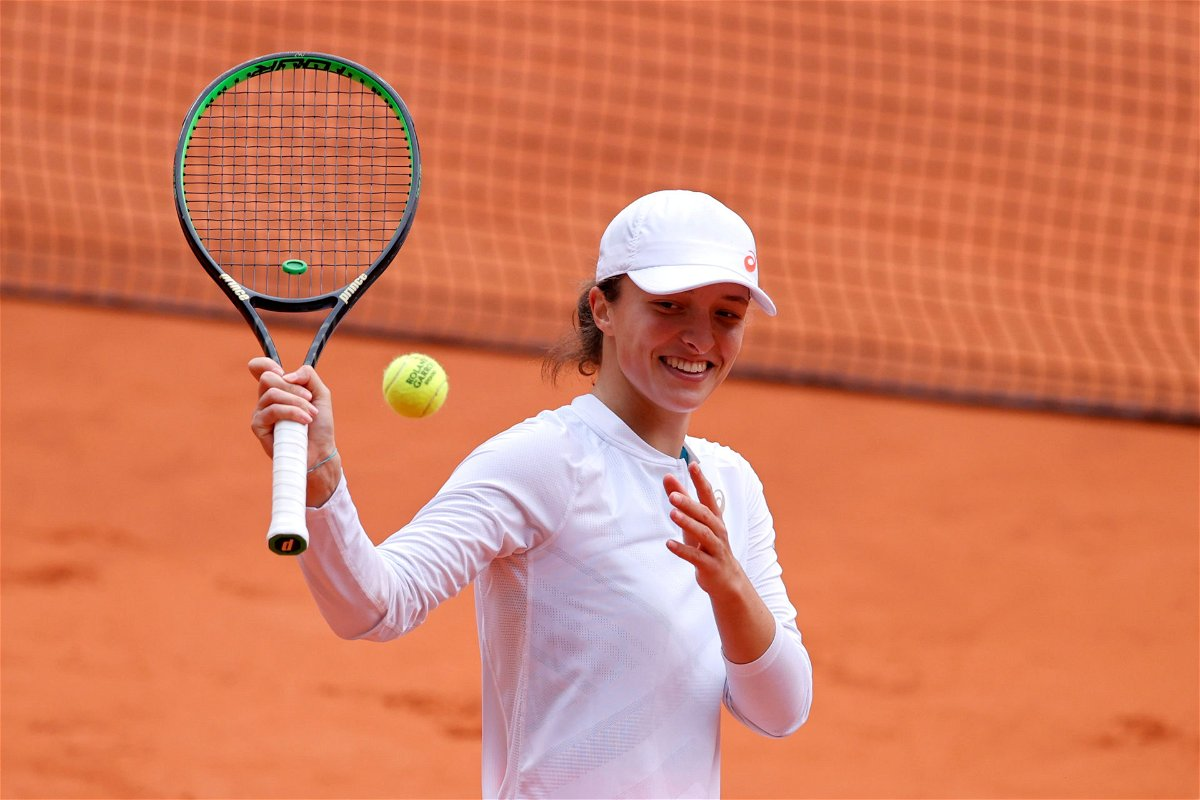 Iga Swiatek after her win in the semifinals of the French Open 2020