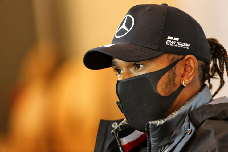 Lewis Hamilton During The Eifel GP Press Conference