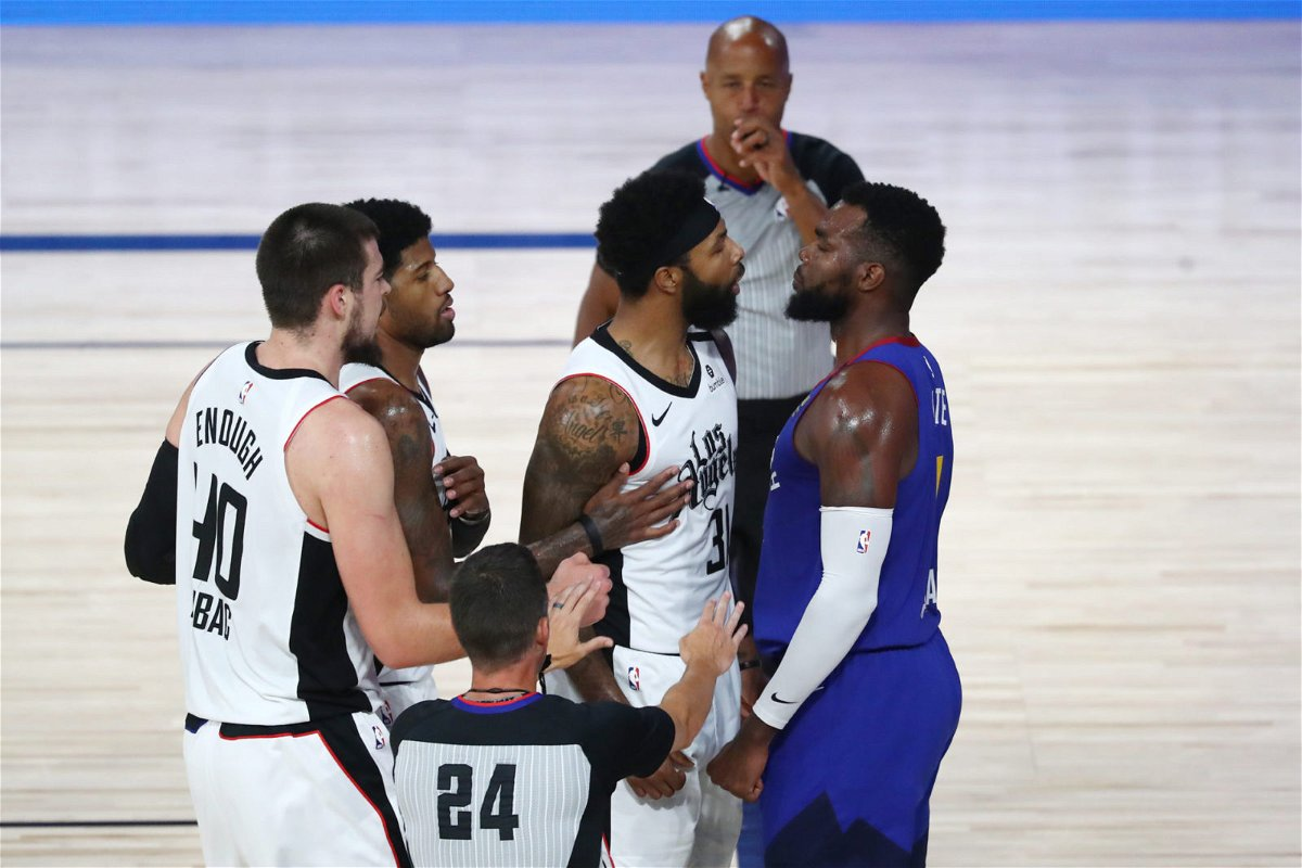 LA Clippers get into a banter during Playoffs 2020