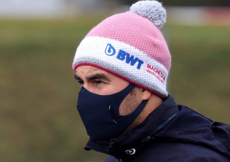 Sergio Perez looks on ahead of the Eifel Grand Prix