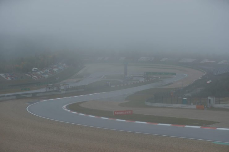 Eifel Grand Prix stalled due to rain and mist
