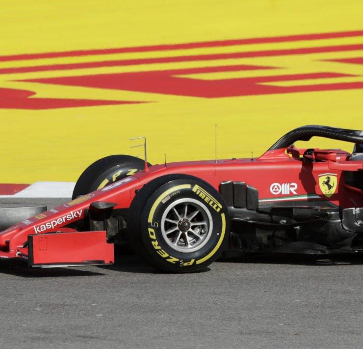 Sebastian Vettel During The Russian GP