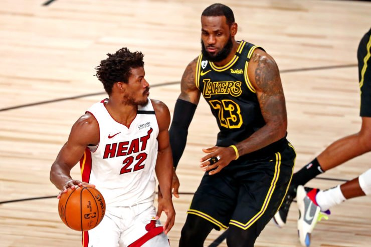 Los Angeles Lakers vs Miami Heat: LeBron James and Jimmy Butler