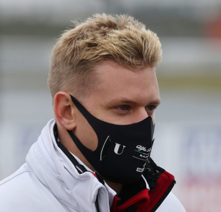 Alfa Romeo's Mick Schumacher on the track at the Eifel Grand Prix 2020