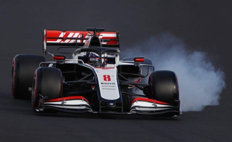 Haas F1 Romain Grosjean struggles at qualifying