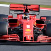 Ferrari's Sebastian Vettel in action during qualifying for the Eifel Grand Prix