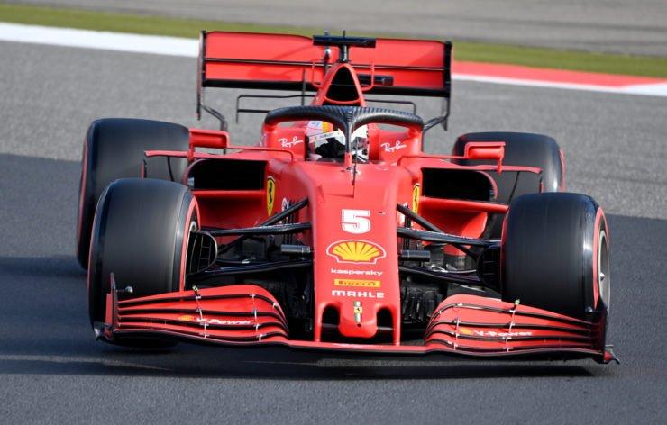 Ferrari's Sebastian Vettel in action during qualifying for the Eifel Grand Prix
