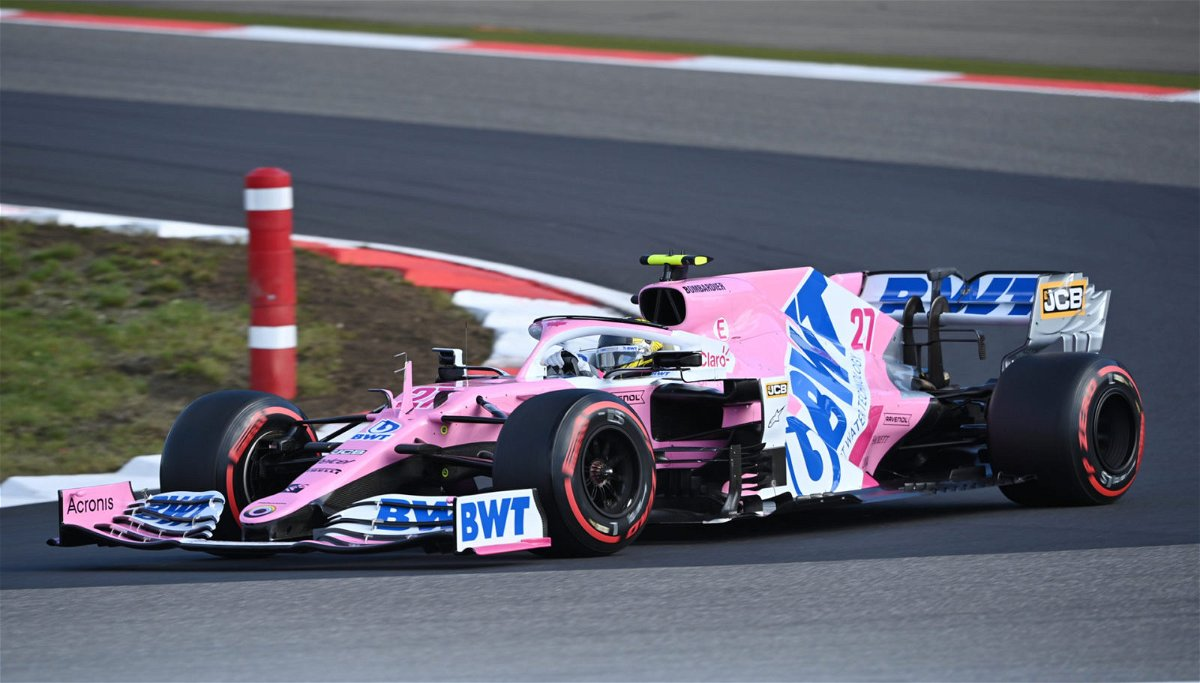 Racing Point's Nico Hulkenberg in action during qualifying.