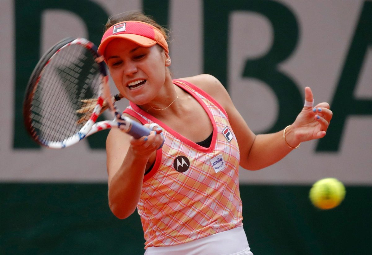 Sofia Kenin at French Open 2020