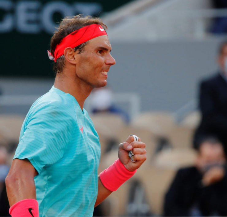 Rafael Nadal celebrates his win in French Open 2020
