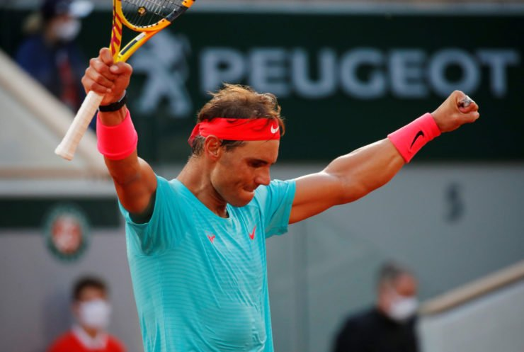 Rafael Nadal after proceeding to the French Open 2020 final