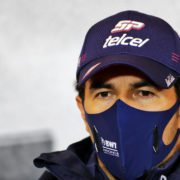 Sergio Perez at a press conference in Germany