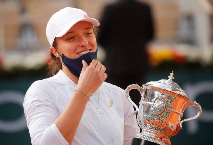 Iga Swiatek after her French Open 2020 victory over Sofia Kenin