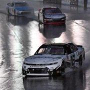 Daniel Hemric driving in the Charlotte Roval Xfinity race