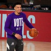 Los Angeles Lakers forward Danny Green at the 2020 NBA Playoffs