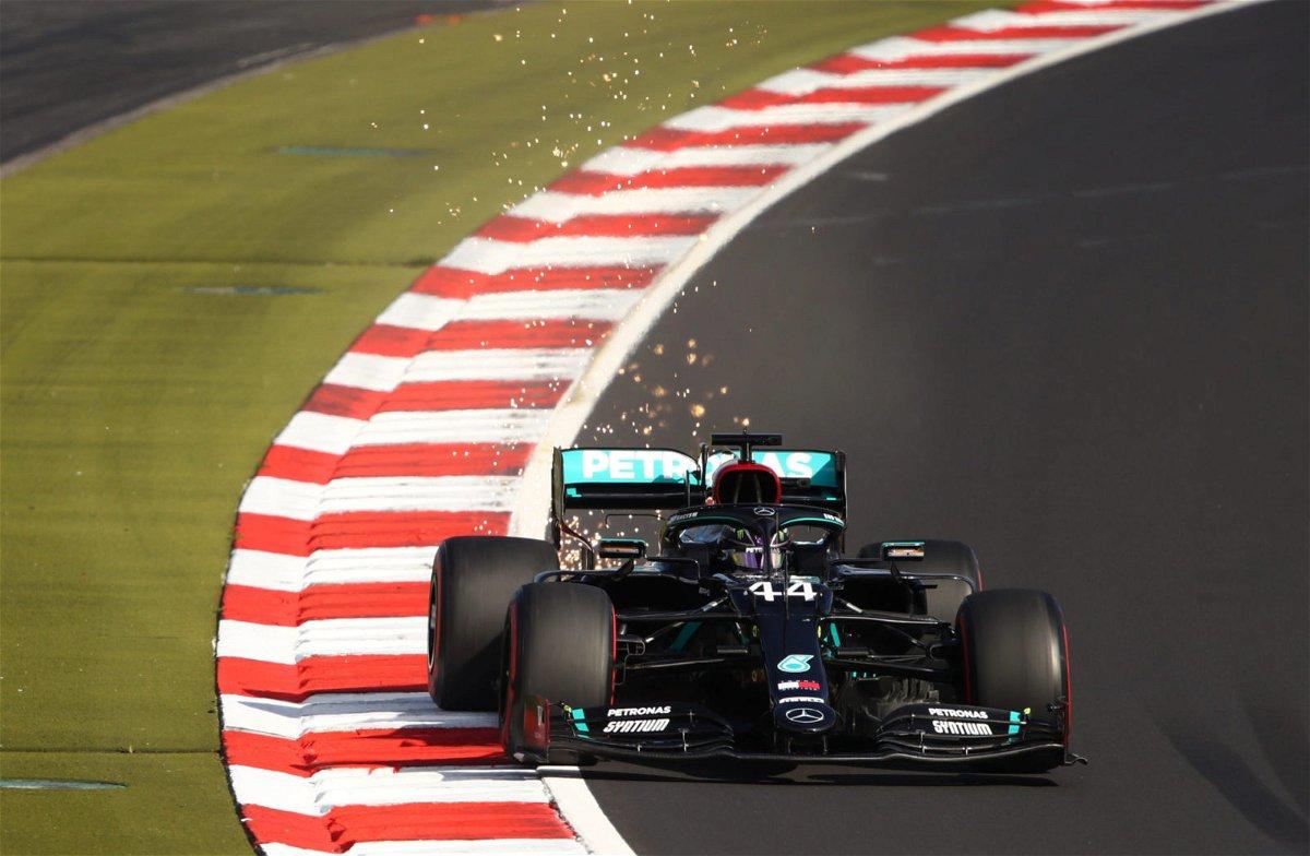 Lewis Hamilton during the Eifel GP Qualifying