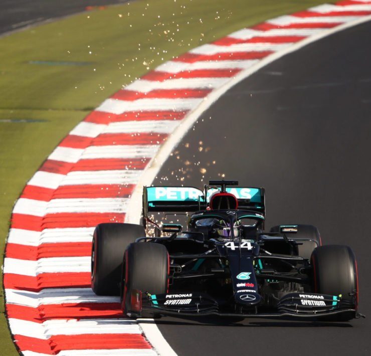 Lewis Hamilton during the Eifel GP Qualifying