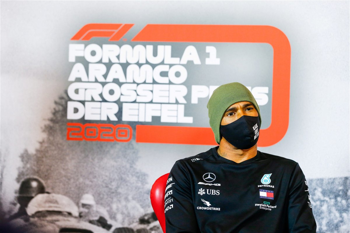 Lewis Hamilton at the Eifel GP Press Conference