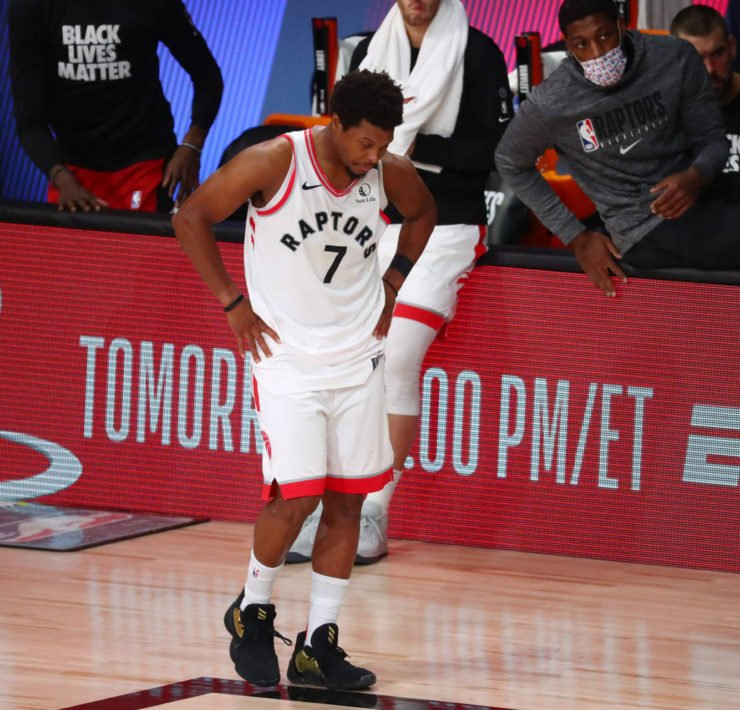 Toronto Raptors guard Kyle Lowry in 2020 NBA Playoffs