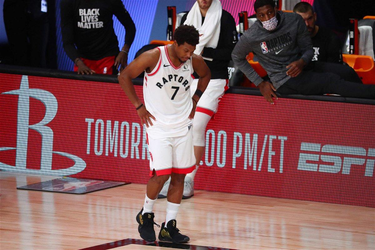 Toronto Raptors guard Kyle Lowry in 2020 NBA Playoffs