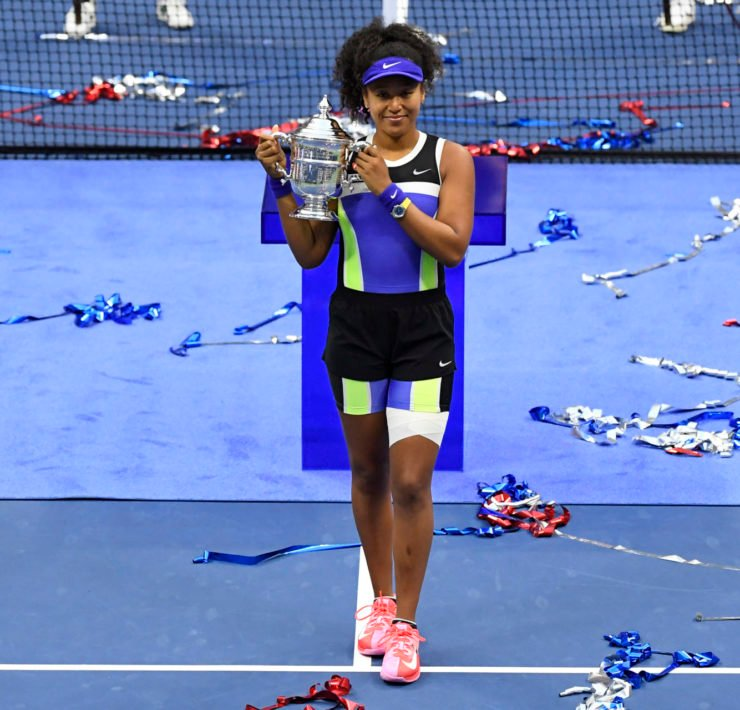 Naomi Osaka with the US Open 2020 title