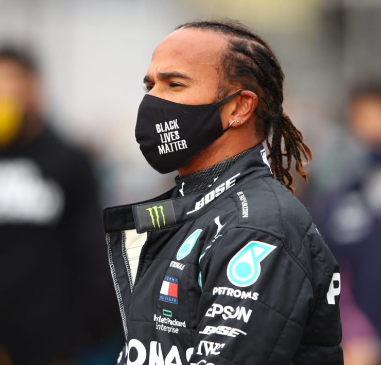 Lewis Hamilton prior to the start of Eifel Grand Prix