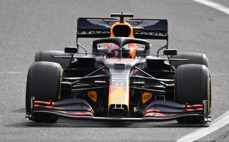 Red Bull's Max Verstappen in action at the Eifel Grand Prix