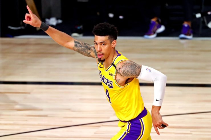 Danny Green Celebrates After Hitting A Three