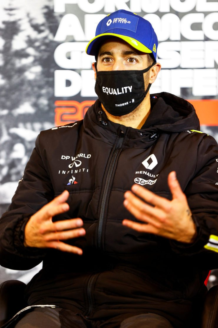 Daniel Ricciardo forgets his signature celebration at the Eifel Grand Prix