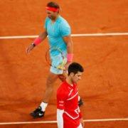 Rafael Nadal and Novak Djokovic at French Open 2020