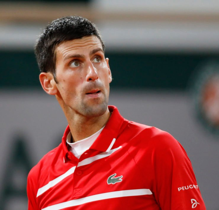 Novak Djokovic at French Open 2020