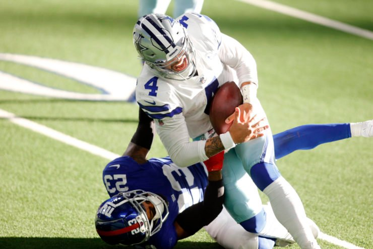 Dallas Cowboys quarterback Dak Prescott suffers an ankle fracture against New York Giants in Week Five.