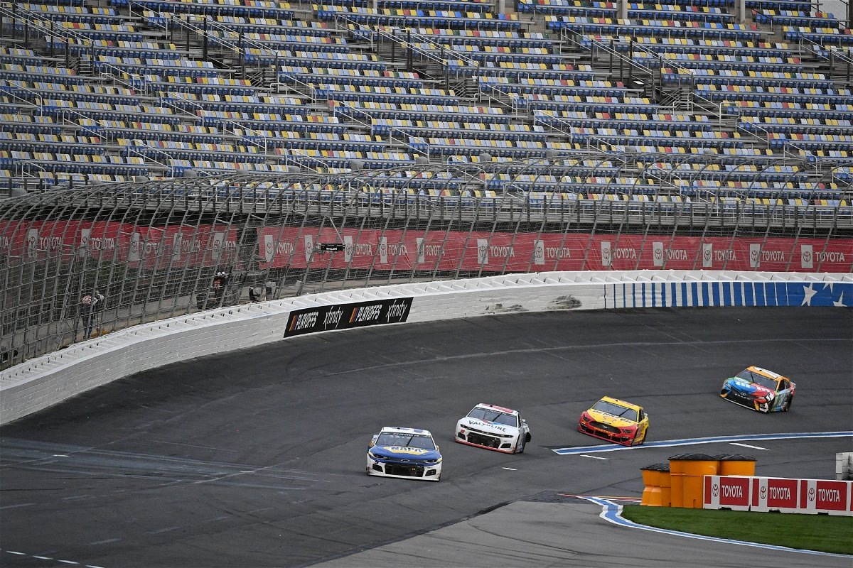 Kyle Busch in action in NASCAR Cup Series