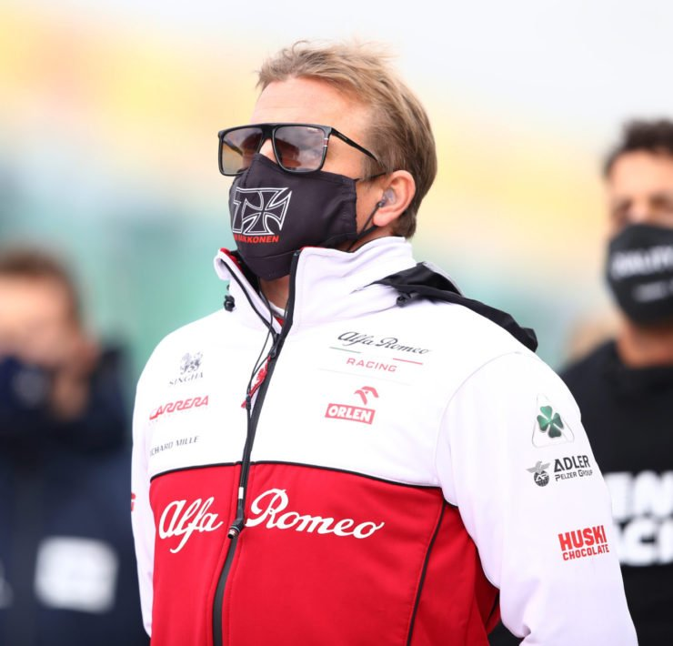 Kimi Raikkonen prior to the start of Eifel GP
