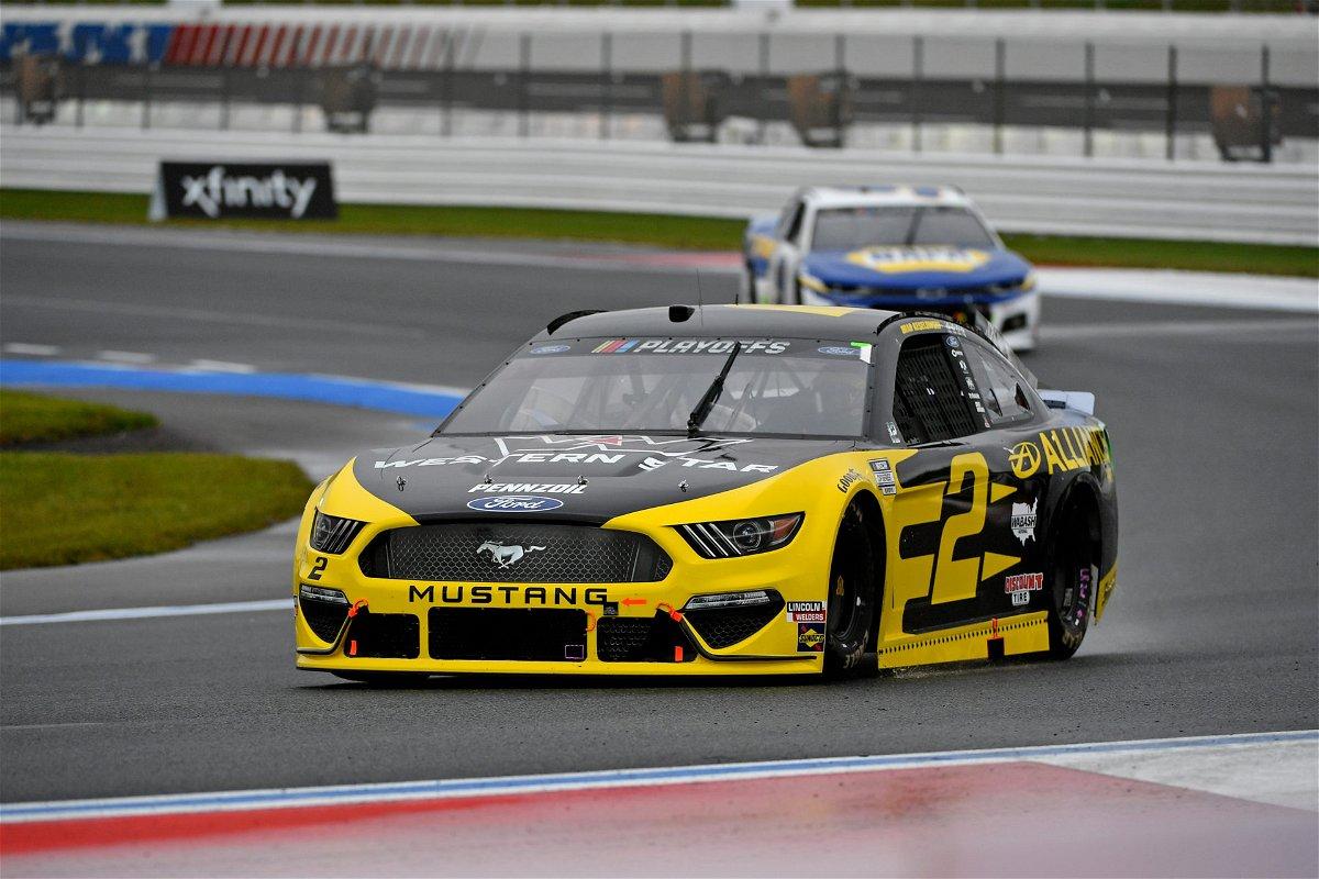 Brad Keselowski in action in NASCAR Cup Series