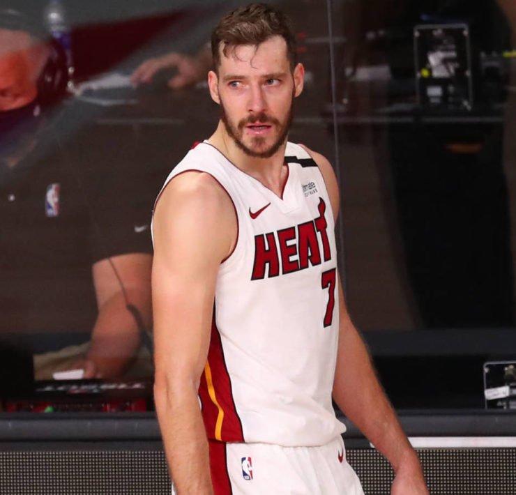 Miami Heat guard Goran Dragic (7) reacts agains the Boston Celtics