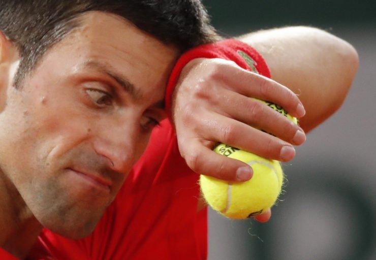 Novak Djokovic at French Open 2020