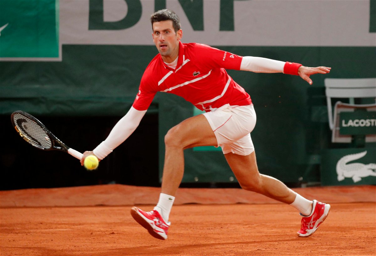 Novak Djokovic at the French Open 2020