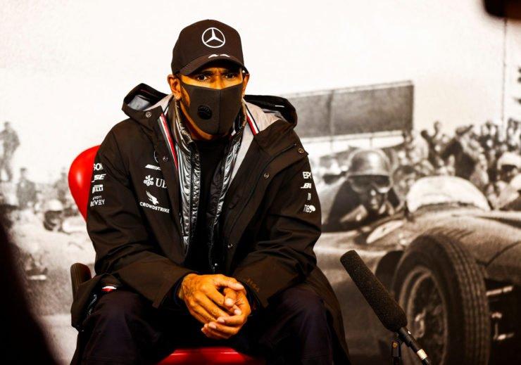 Lewis Hamilton during the Eifel GP Press Conference