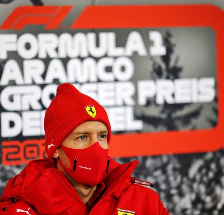 Sebastian Vettel during the Eifel GP Press Conference