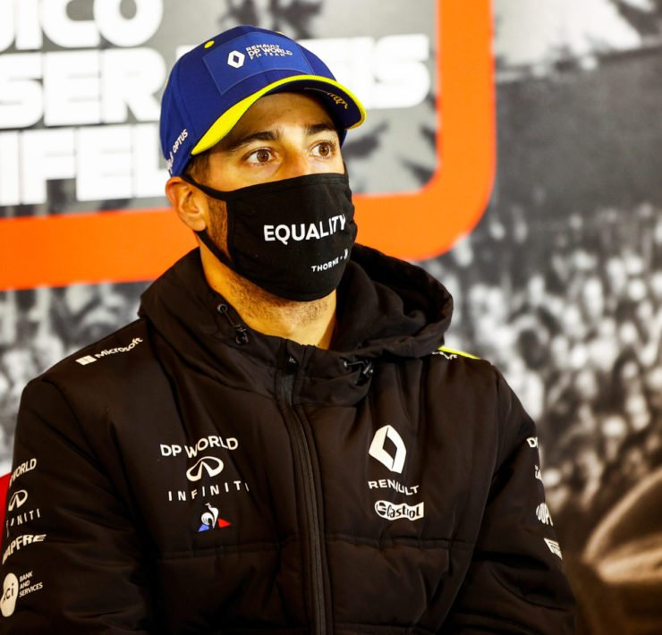 Daniel Ricciardo at the Eifel GP press conference