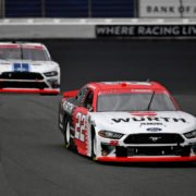 Austin Cindric and Chase Briscoe in action in NASCAR Xfinity Series