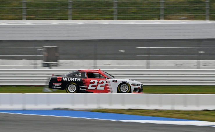 Austin Cindric in action in NASCAR Xfinity Series