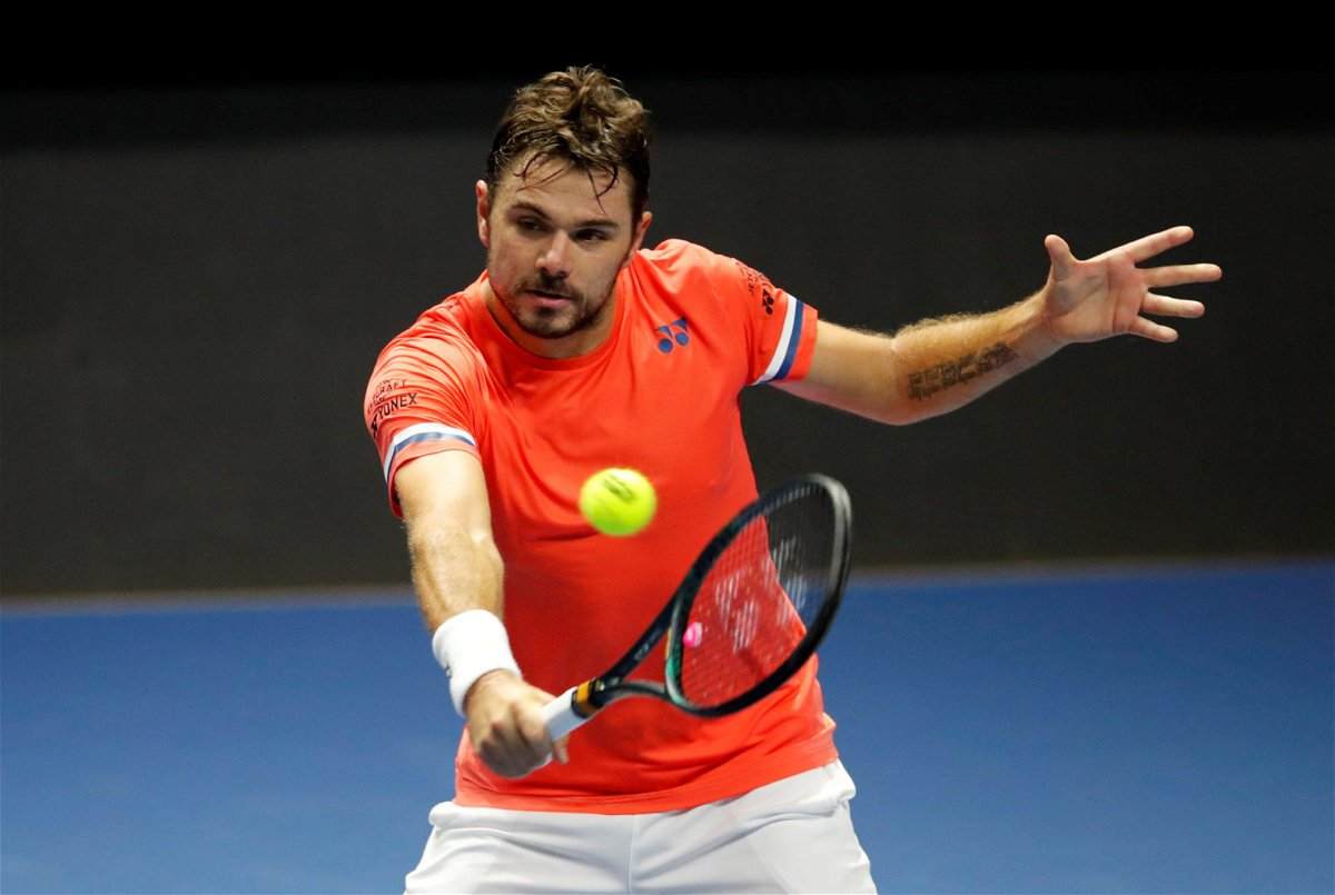 Stan Wawrinka at the ST. Petersburg Open 2020