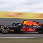 Red Bull driver Alex Albon during the Eifel GP race