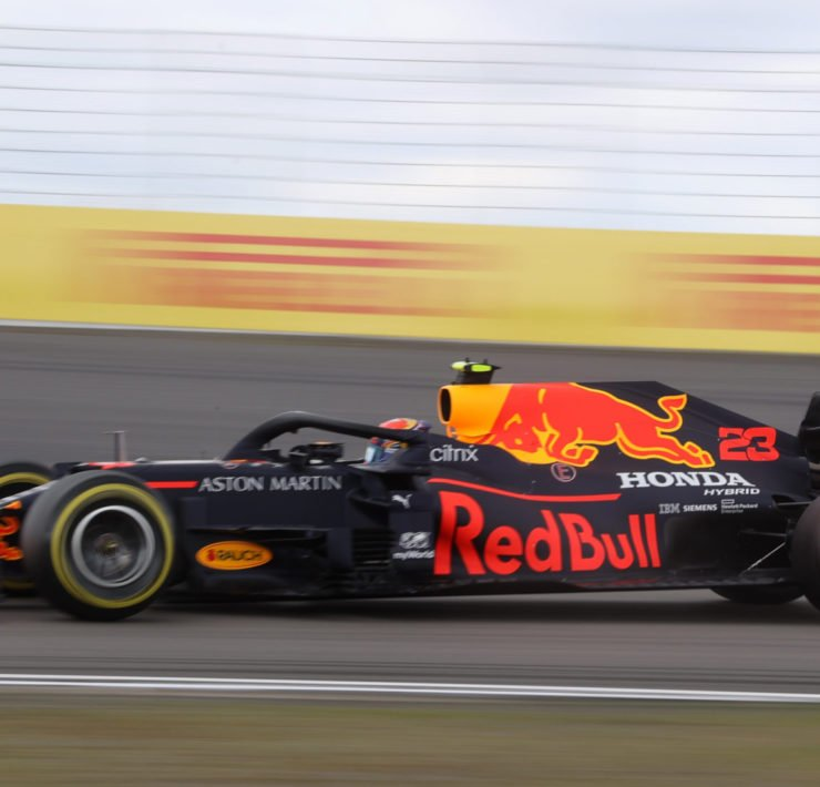 Red Bull driver Alex Albon during the Eifel GP race