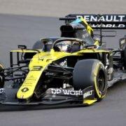 Renault's Daniel Ricciardo during the Eifel GP main race