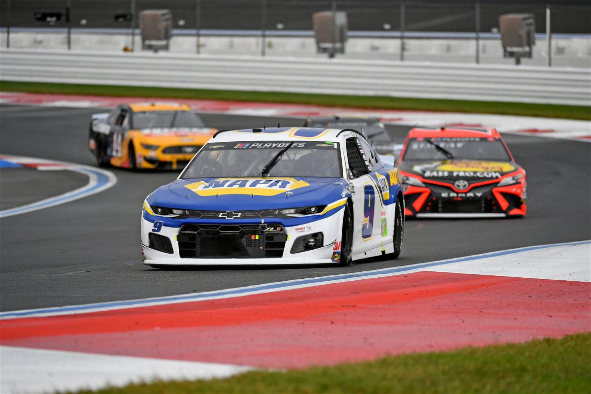 Chase Elliott and Martin Truex Jr in action in NASCAR Cup Series