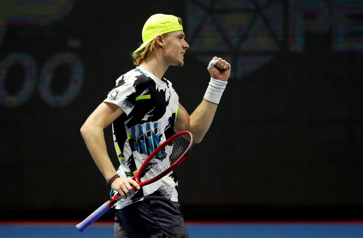 Denis Shapovalov at the ST. Petersburg Open 2020