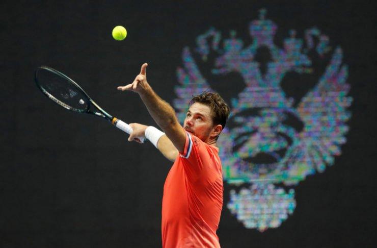 Stan Wawrinka at the ST. Petersburg Open 2020